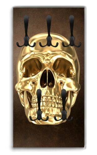Wandgarderobe Totenkopf Skull WG290 Garderobe Flur Garderobenpaneel Wandbild