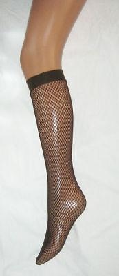 2x Whale Net Pop Socks fishnet Black lycra knee high tights