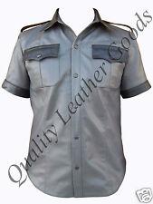 NAPPA LEATHER HIGHWAY PATROL POLICE MILITARY UNIFORM STYLE SHIRT MEDIUM 9cs