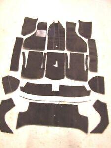 Fiat 850 Spider Black Cut Pile Carpet Kit With 20 Ounce Padding Ebay