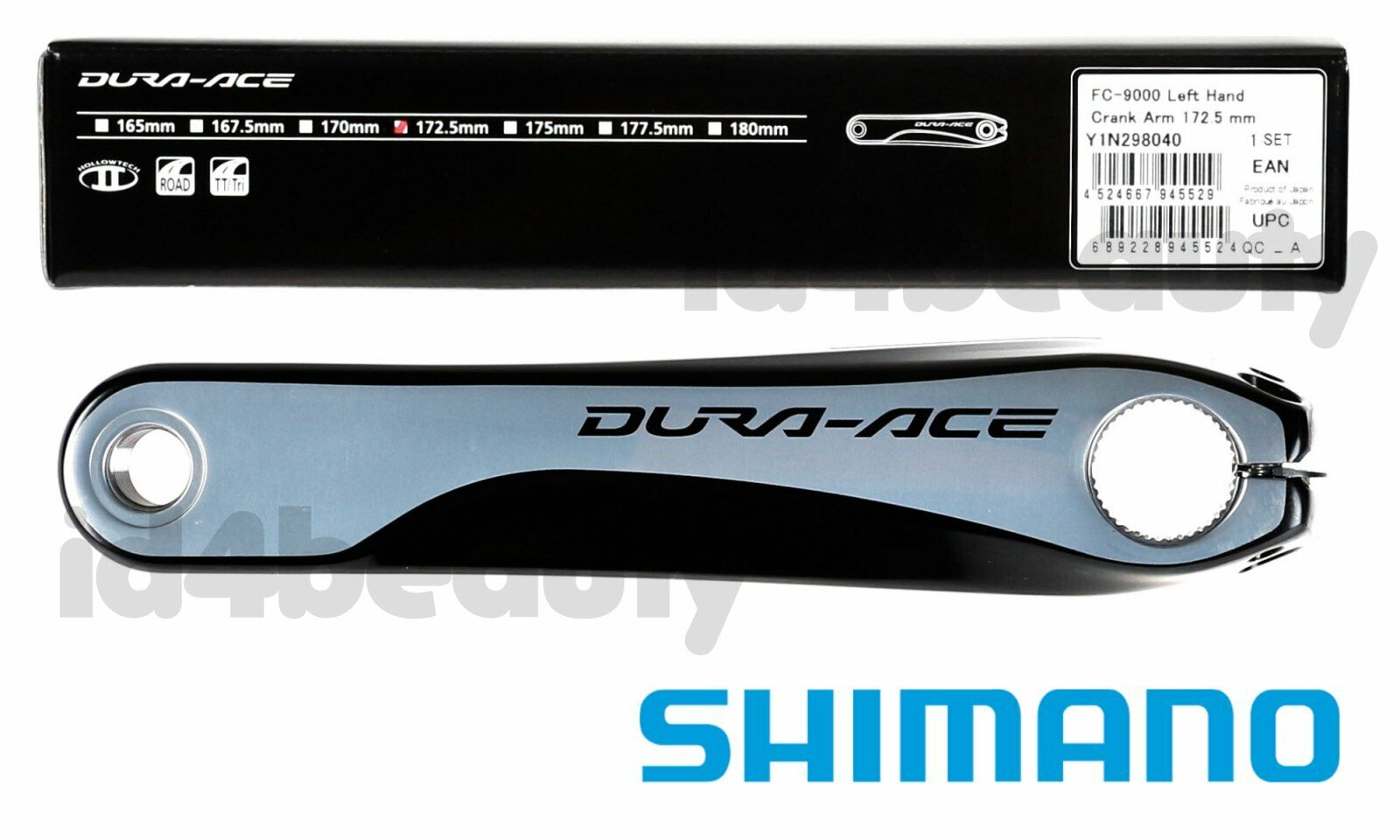 (172.5mm) Shimano Dura Ace FC-9000 Left  Crank Arm New NIB  shop online today
