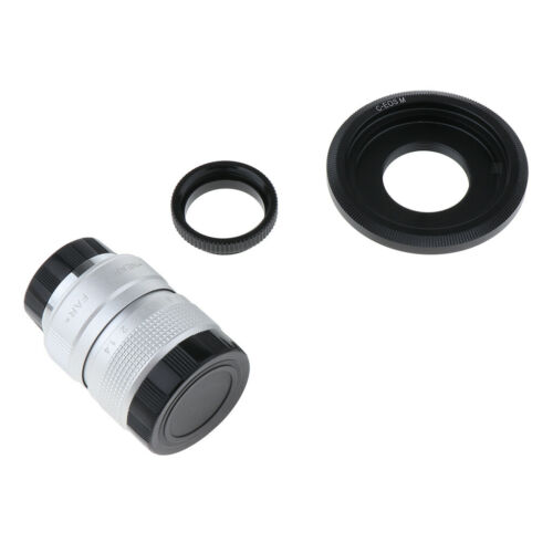 C Mount Adapter Macro Rings 25mm f1.4 for Canon EOS M Cameras #2 CCTV Lens