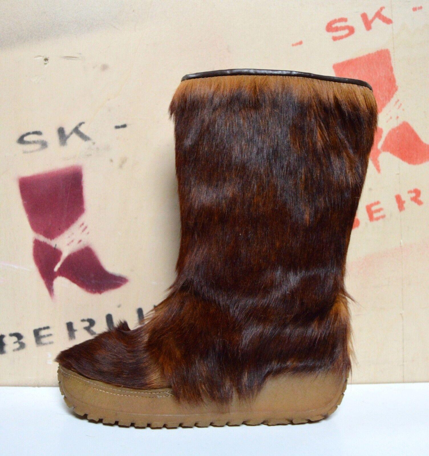 Fellstiefel POLARIS made italy TRUE VINTAGE Yeti Boots Winter Stiefel Plateau