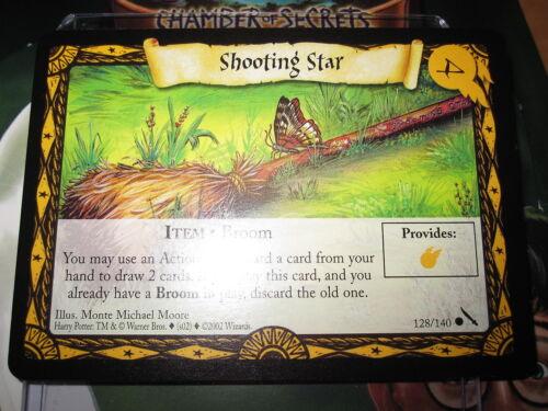 HARRY POTTER TCG GAME CARD CHAMBER OF SECRETS SHOOTING STAR 128//140 COM MINT EN