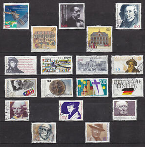 UBRD12w-Germany-FRG-1991-18-stamps-used