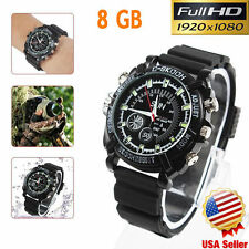 1080p Waterproof Spy Watch MOTION DETECT Infrared Night Vision Camera Video NEW