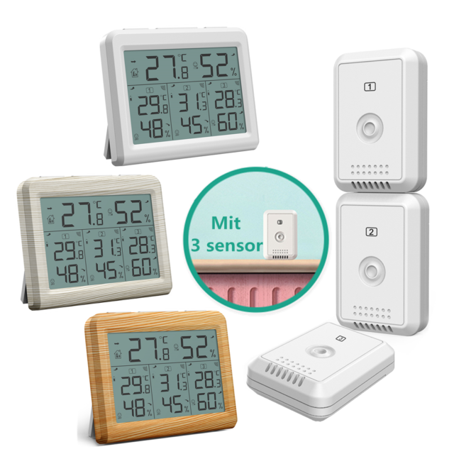 Mini LCD Digital Thermometer Temperaturmesser Temperatur Tester Gelb