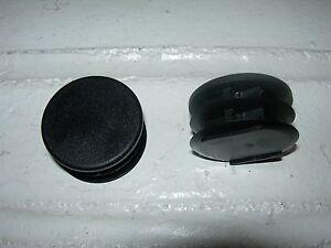 "2 Round Ribbed 1.5"" Diameter Finishing Plugs/Caps for Tubing or Drum Rack Kit"