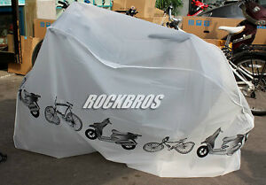 "RockBros 26"" 29"" 29er Bike MTB Waterproof Cover Rain Protector Garage White"