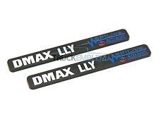 "2 New Black & White Duramax Diesel ""DMAX LLY"" Allison EFILIVE 2500 3500 Badges"