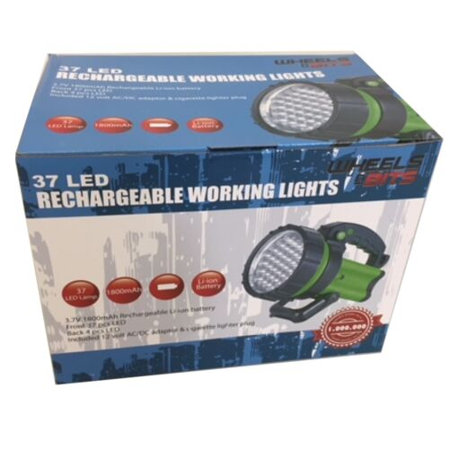 37 LED Rechargeable Torch Hand Lamp 2400 Lux 1million candle power  50//100m Beam