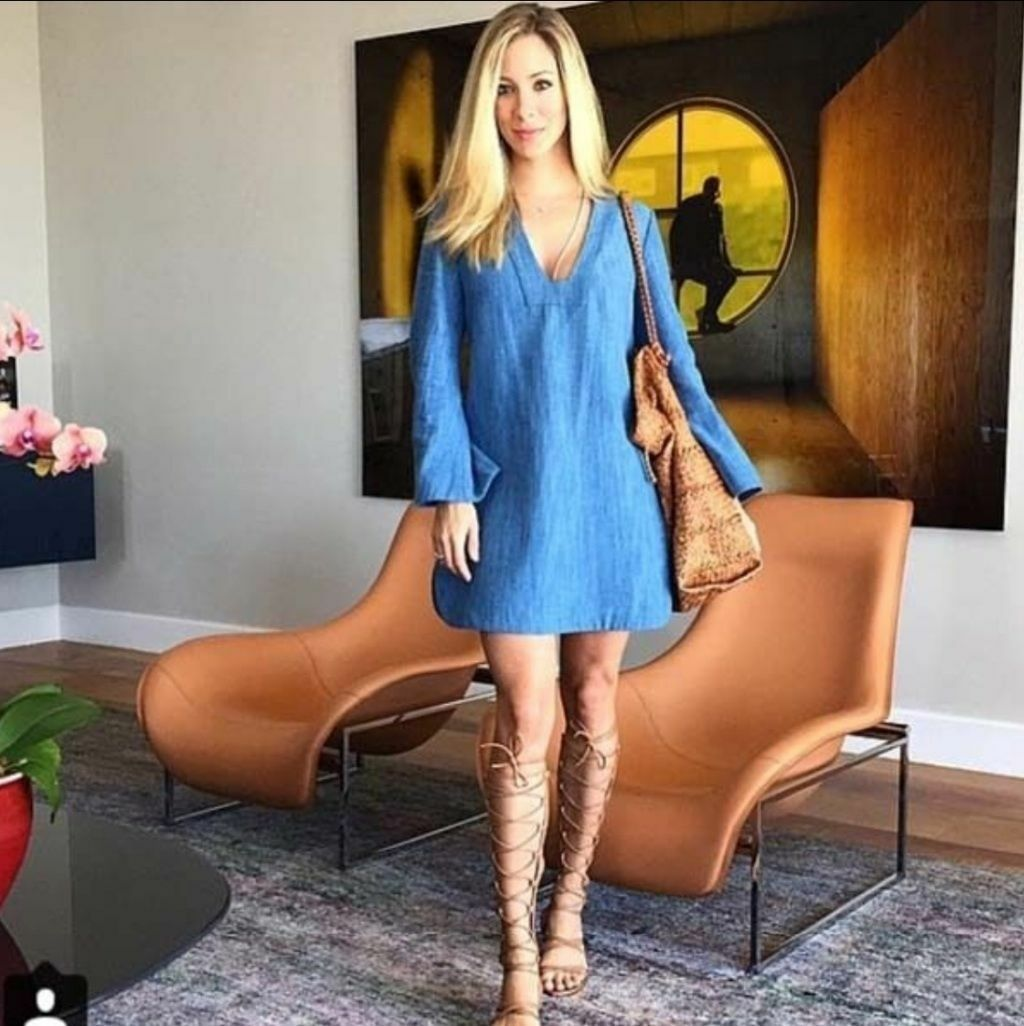 cab6066e8c74ca ZARA Denim bluee 100% Cotton Bell Sleeve Tunic S BLOGGERS Dress BNWT ...