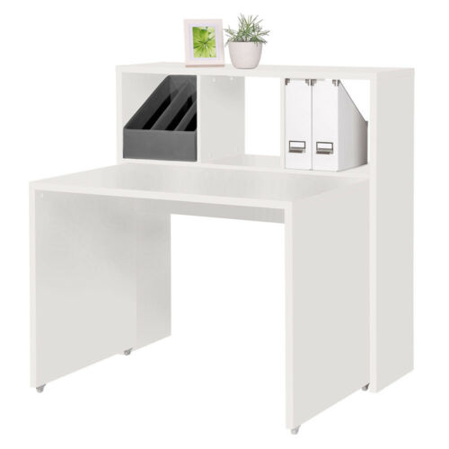 MALIS Raumteiler Raumregal Schreibtisch Garderobe Regal Faltbox Stoffbox Rollen