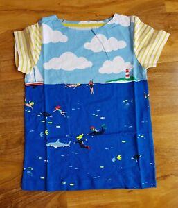 MINI BODEN BOYS Hotchpotch Stripe T-shirt LONG SLEEVE BRAND NEW B0181