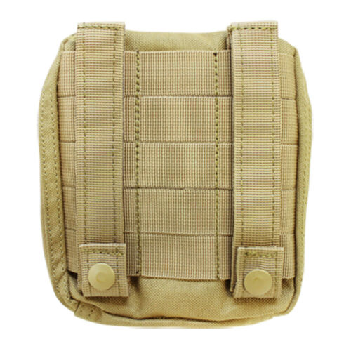 Molle Tactical ATLAS Map Pouch ID Admin Chart Case Clear Cover Carrier-TAN