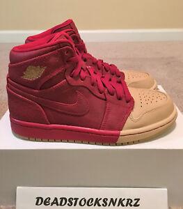 78690aa3723 WMNS Nike Air Jordan 1 Retro High Premium Dipped Gym Red Mttlc Gld ...