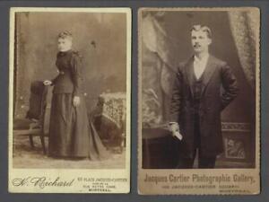 Lot-of-2-Original-Antique-Montreal-Quebec-Jacques-Cartier-Photographic-Gallery