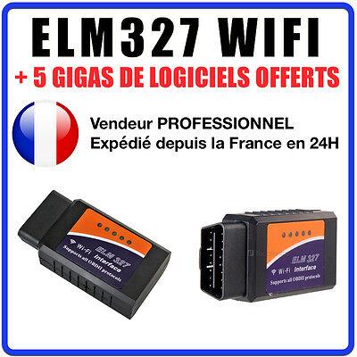 Interface Diagnostique WIFI ELM327 Sans Fil OBDII OBD2 Voiture Scanner Pr iPhone