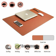 Large Computer Laptop Mouse Pad Keyboard Desk Mat Pu Leather Double Sided Use Us