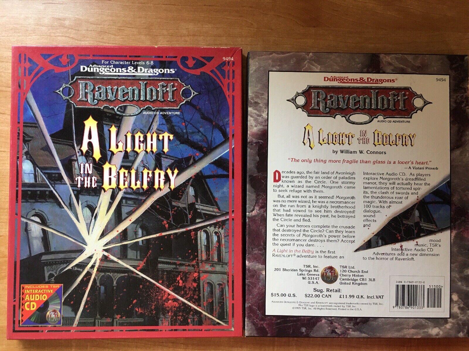 AD &D Ravenloft ljus in The BelFry Set Fullständig Outnyttjad TSR årgång 9494