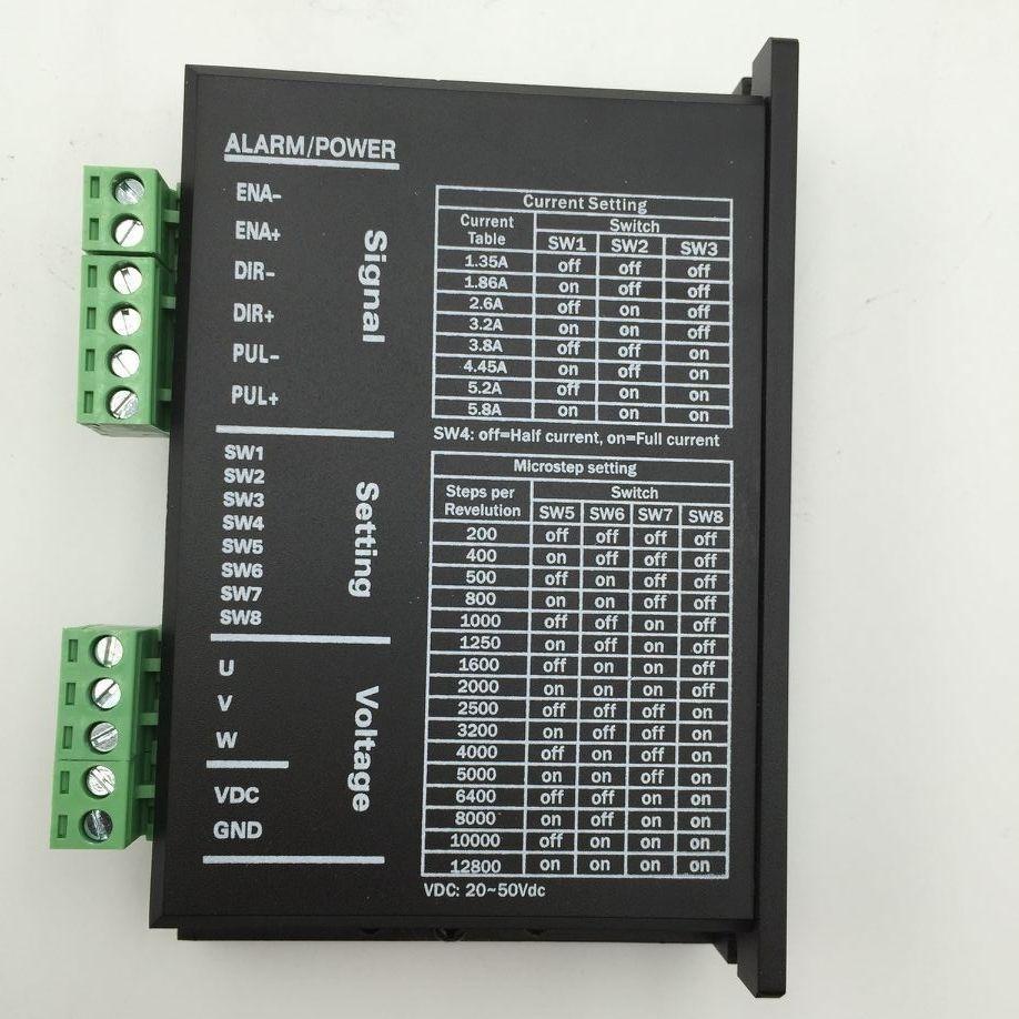 DC20-50V 5.8A Stepper Driver 3phase Motor Controller for NEMA23 Nema17 LC3056MA