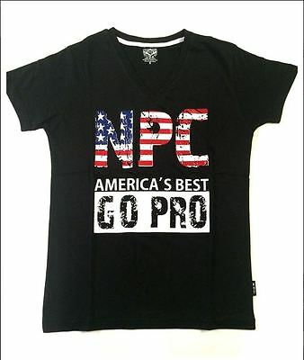 Mens Workout NPC Bodybuilding Wear Combed 100% Cotton V-Neck Top Gym T-Shirt