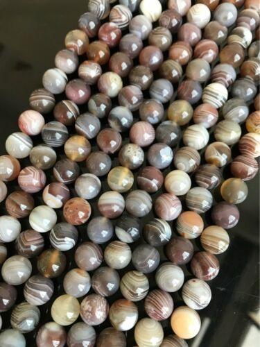 1 Strand Natural Botswana Stripes Agate Ball Loose Beads 5,6,8,10,12mm AE4954