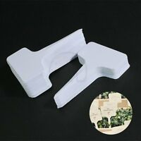 Plant T-type Plastic Tags Marker Nursey Garden Labels Pot 100 Pcs 60x100mm Herbs