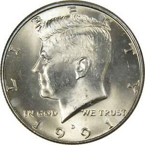1991-D John Kennedy Half Dollar Uncirculated From Mint Set Combined Shipping