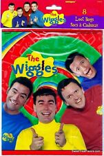 The WIGGLES Party Supplies FAVOR BAGS Birthday Decoration Treats Loots x8 Gift *