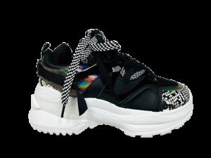 Scarpe-Donna-Ginnastica-Sneakers-Casual-Platform-Zeppa-Alta-Moda-nuove-new-nero