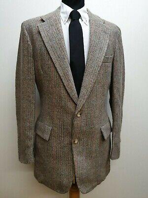 "Da Uomo Vintage Macys's Austin Reed Beige Grigio Blu Weave Blazer In Tweed Lana S 36""-mostra Il Titolo Originale"