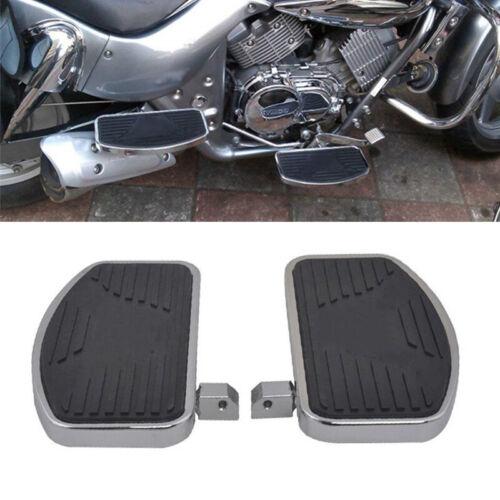 1 Pair Motorcycle Left+Right Floorboards Foot Boards Pedal Metal Steel Rubber