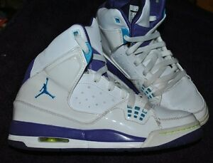 hot sales e489e e30f2 Details about Nike Air Jordan SC-1 GS Shoes White/Grape Purple/Ice/Orion  Blue Kids Size 6Y