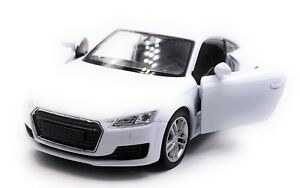 Audi-Tt-Compact-Athlete-Model-Car-White-Scale-1-3-4-Licensed