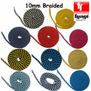 10mm-Braided-Cotton-Rope-100-Natural-Soft-Multi-coloured-8-Strand-Craft-Decor