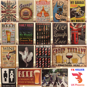 retro metal tin signs plaques home decor new house gift wall