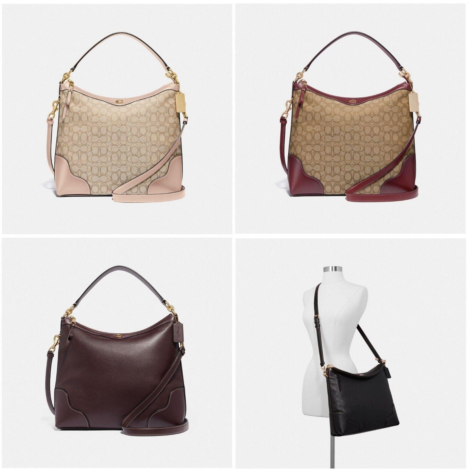 Coach Ivie Hobo Leather Crossbody Shoulder Bag F34824 F35846
