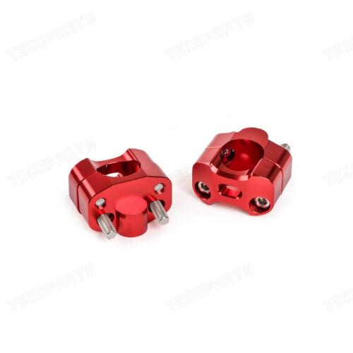 """Red 1 1//8/"""" Universal Bar Mount Riser Clamp Taper Handlebar MX DitrtBike ATV Quad"""