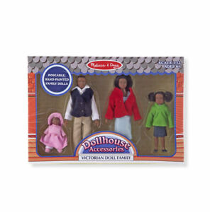 Victorian-DOLLHOUSE-FAMILY-African-American-2689-4-dolls-Melissa-amp-and-Doug