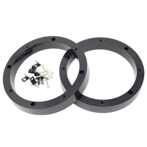 "4 Pairs 6.5/"" inch Plastic Spacer Speaker Rings Custom Mounting Adapter Subwoofer"