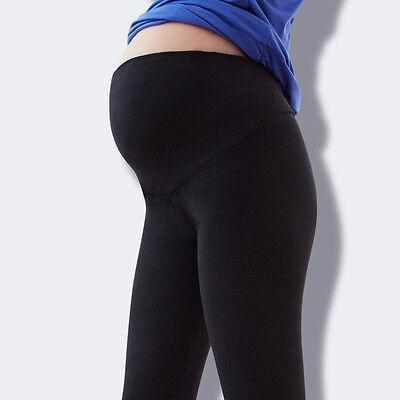 Pregnant Women Maternity Leggings Cotton Over Bump Full Length Pants Adjustable