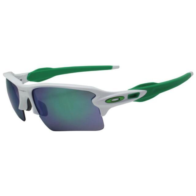 7e1122b3fb Oakley OO 9188-6359 FLAK 2.0 XL Polished White w  Jade Iridium Sports  Sunglasses