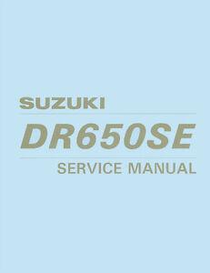 suzuki dr650se repair manual 1997 to 2001
