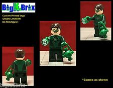 GREEN LANTERN DC Custom Printed LEGO Minifigure w/Custom RING & LANTERN!