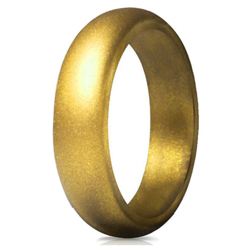 Men/'s//Women/'s Silicone Wedding Band Engagement Ring Hypoallergenic Jewelry