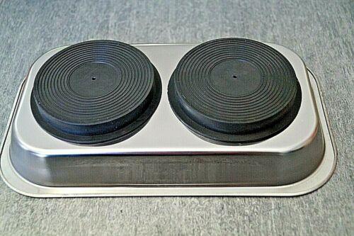 Magnetteller Magnetschale rechteckig Haftschale Edelstahl 240x140x45 mm Hafttell