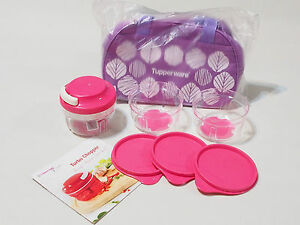 New-Tupperware-Pink-Turbo-Chopper-Set-1-300ml-Free-Carrier-amp-Recipe-Booklet