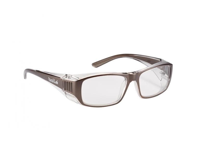 color negro y rojo Bolle Safety Ultim8 Gafas con lente transparente