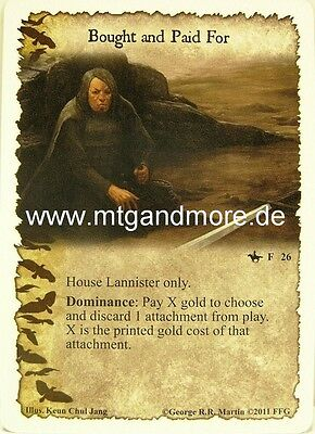 A Game of Thrones LCG - 1x Bought and Paid For  #026 - The Grand Melee
